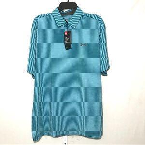 Under Armour Shirts - Under Armour NWT Mens Striped Polo Shirt XL